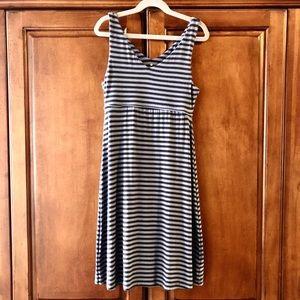 Athleta Striped V-neck Santorini Dress